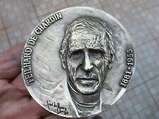 Vintage in Bronze or Brass Beautiful Medal Teilhard de Chardin 1881-1955