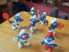 Smurfs lot of 7 vintage figures NICE 60s 70s 80s