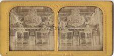 Paris Tuileries Salon Photo stéréo colorisée Vintage albumine ca 1865