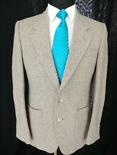 Vintage Daniel Hechter Gray Irish Tweed 2Vent Sport Coat Color Fleck Mens 36/38R