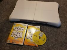 Nintendo Wii Fit Board White + 3 games - wii fit + plus & biggest loser. Vgc