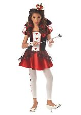 Junior Queen of Hearts Tween Costume Size Small 3-5 (missing gloves & crown)