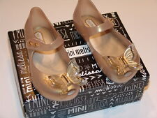 Mini Melissa Ultragirl Fly BB Pearlized Beige - toddler size 10 US - NEW