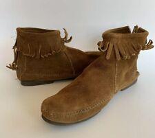 Minnetonka Women's 7 Brown Suede Back Zipper Moccasin Boots (Please Read)