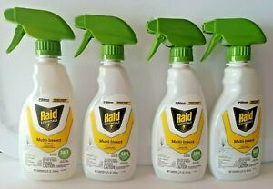 Lot Of 4 Raid Essentials Multi-Insect Killer Child-Safe12-ounce Essential Oils