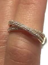 18CT ROSE GOLD 0.50CT GSI ROUND DIAMONDS CROSS OVER LADY RING GOY45