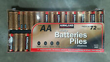 72 AA Kirkland Signature Alkaline Batteries,  Fresh.  NEW LARGER SIZE !!!