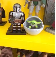 Minifigure lego MOC BABY YODA IN SPACESHIP Star wars Mandalorian Marvel 031097
