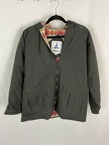 Misty Harbor Men's Medium Black PVC W/ Cotton Flannel Plaid Lining Rain Jacket