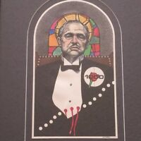 Authentic Original Signed FRANK GUTIERREZ DRAWING GODFATHER 1970'S POP PAINTING