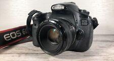 Canon EOS 60D 18.0MP Digital SLR Camera - W 50 1.8
