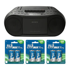 Sony Cfds70 Stereo Cd/cassette Boombox Home Audio Radio With 6 C-batteries
