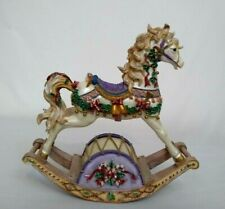 Rocking Horse Carousel Musical San Francisco Music Box Christmas Deck The Halls