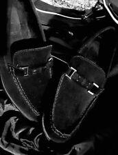 Designer CALVIN KLEIN Dress Black Leather Suede Shoes Size Men's 11M