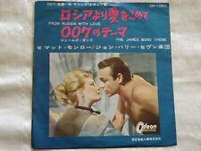 "Matt Monro-From Russia With Love/James Bond Theme. 1964 Japan 7"" 45. OR1057. VG-"