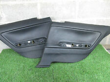 BMW E46 COUPE Rear Door Cards / Panels / Trims Black Leather