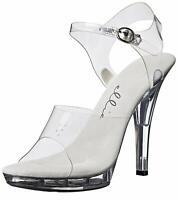 Ellie Shoes Womens M-brook Peep Toe Casual Slingback Sandals, Clear, Size 8.0 2j