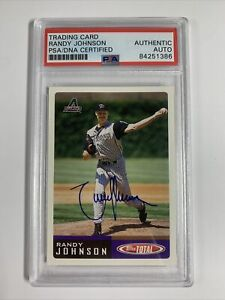 Randy Johnson 2002 Topps Total PSA/DNA Authenticated Autograph Baseball Card HOF