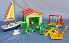 Playmobil Puppenhaus Ferienhaus 3771 Haus Wochenendhaus Spielplatz 80er Jahre