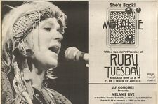 8/4/89Pgn35 Advert: Melanie 'ruby Tuesday' A New Special '89 Version 7x11