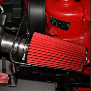 """3""""Car Long Ram Cold Air Intake Filter Cone Air Filter Red Reusable For Car Great"""