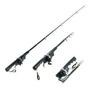 Travel Rod Spincasting Rod & Reel Combo 4'6'' Gear Ratio 3.6:1 Folding Mini Rod