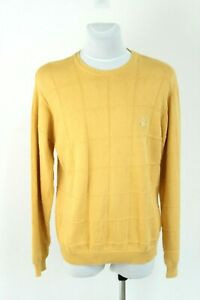 IZOD yellow cotton casual knitted men pullover sweater size EU L