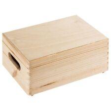 (2 Stk) ALLZWECKKISTE STAMMKISTE HOLZ BOX HOLZBOX HOLZKISTE Deckel 20 x 30 x 15