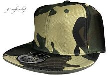 BRAND NEW FITTED HAT CAP CAMOUFLAGE FLAT PEAK ALL SIZES FIT BASEBALL URBAN HIP