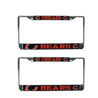 Brand New 2pc Set NFL Chicago Bears Car Truck Metal License Plate Frames