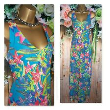 BHS MAXI DRESS UK 18, Gorgeous Tropical Floral Casual Summer holiday Sun Dress