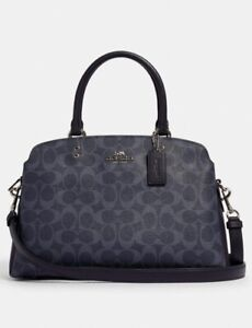 NWT Coach 91132 Lillie Carryall in signature Canvas Denim Midnight  $428