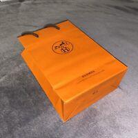 "100% Authentic Medium Luxury HERMÉS Orange Shopping Bag: 8.6""x 5.9""x 2.4"""