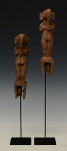 Early 20th Century, A Pair of Burmese Wooden Textile Tools in The Form of Ganesh