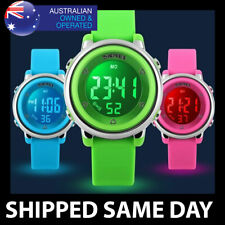 KIDS & WOMENS WATERPROOF WATCH Digital Sports Water Resistant Ladies Boys Girls