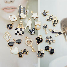 20PCS Enamel Plated Mixed Clothing Accessories Pendant Charms Jewelry DIY Crafts