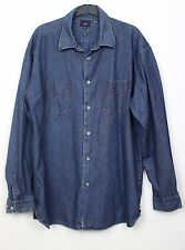 Mens Vintage 90s Tommy Hilfiger Denim Retro Urban Long Sleeve Shirt XL