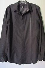 Structure Men's Black Long Sleeve Button Front Shirt SIZE:M