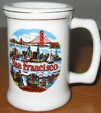 Vintage San Francisco Mug Shot Glass Souvenir Golden Gate Cliff House Cable Car