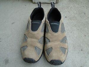 Merrell Jungle Moc Ventilator Taupe Beigle Slip On Shoes  Size Men's 10