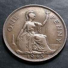 More details for 1945-one penny coin-rare doubled 9 error-victory penny-king george v-#la75