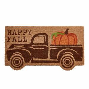 "Mud Pie Fall Truck Doormat 16 3/4"" x 30"""