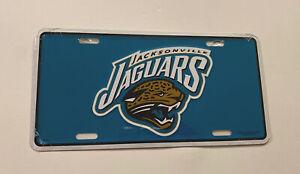 Jacksonville Jaguars NFL Official football metal car or truck license plate. New