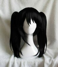 LoveLive! Love Live Nico Yazawa Niko Cosplay Wig Ponytail Hair + 2 Bow Hairpins