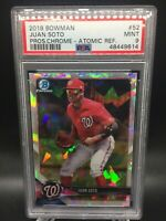 2018 Bowman Chrome Juan Soto Atomic Refractor PSA 9 MINT!!! Washington Nationals