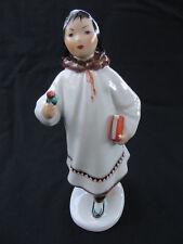 "Vintage Ussr Russia Lomonosov Porcelain Eskimo School Girl Figurine 8""H"