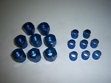 3/8 HARD LINE ALUMINUM NUT AND SLEEVE BLUE 6AN FOR FUEL LINE