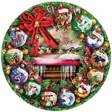 SUNSOUT ROUND PUZZLE COUNTING THE DAYS LORI SCHORY 1000 PCS 12 DAYS OF CHRISTMAS