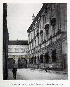 German Landshut — Alte Residenz © 1921 Reprint vintage Picture