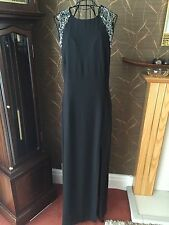 Ladies BNWT Long Black Sexy Classy Dinner/ Ball Gown Dress NEXT PREMIUM- Size 14